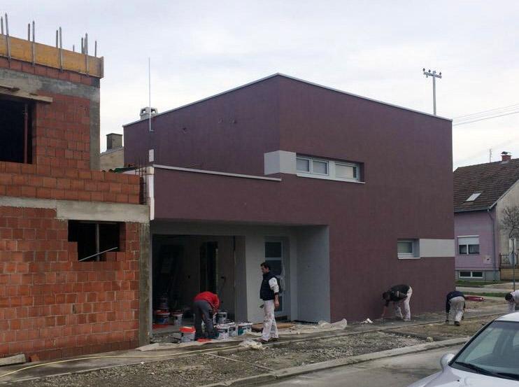 Fasaderski radovi - Facro - Obiteljska kuća Osijek